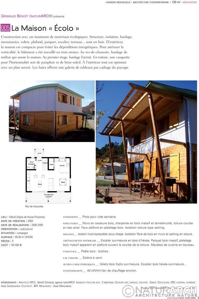 Eco maison bois naturarch - Maison bois eco ...